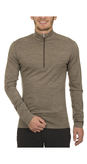 Icebreaker Oasis LS Half Zip Shirt Men trail hthr